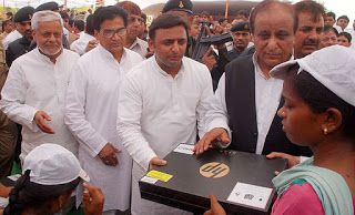 Announced and distributed laptops   More than 20% of Indian population still living under below...