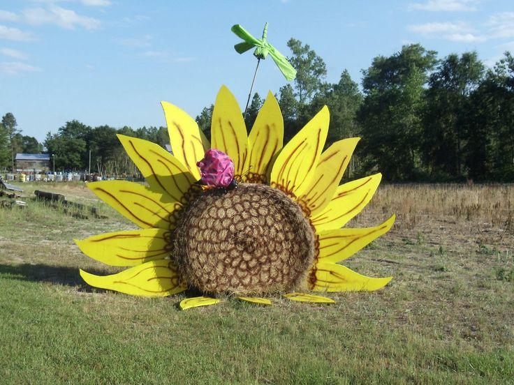 My summer hay bale scene