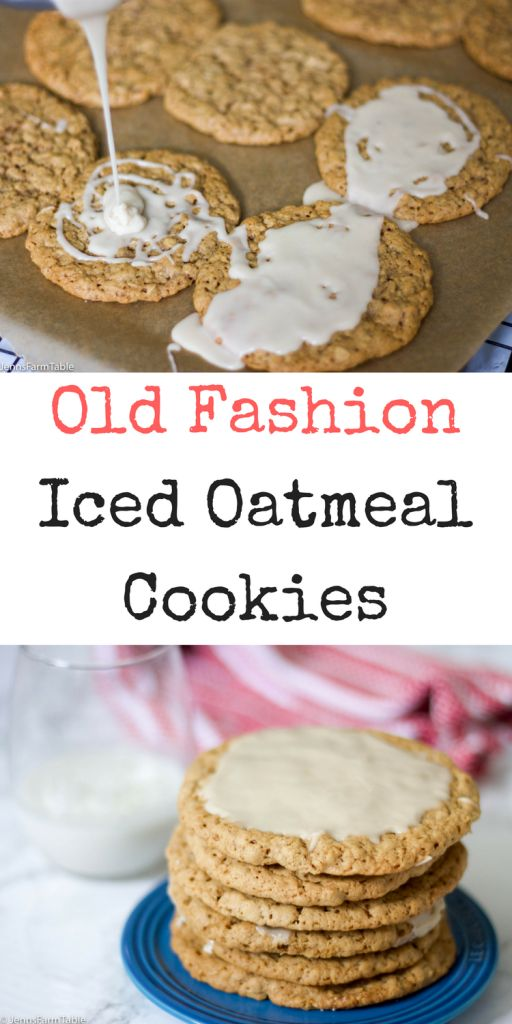Tried and true, this Old Fashion Iced Oatmeal Cookies recipe makes soft and chewy cookies every time. The dough is also prefect for adding raisins to it!
