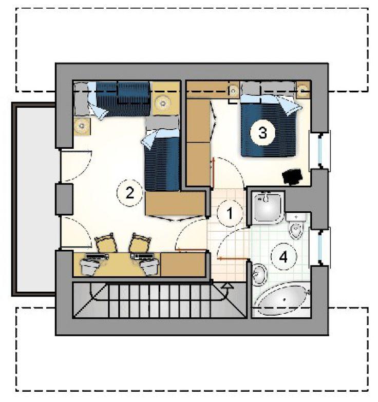 Проект дома №1-34. Размеры дома 7х7.