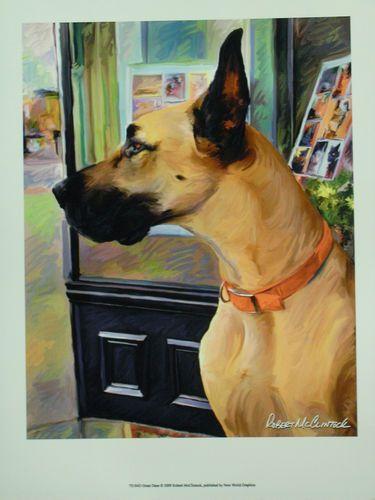 $19.99  DOG Pets ART Print Great Dane BY Robert Mcclintock   eBay #dog #pets #walldecor