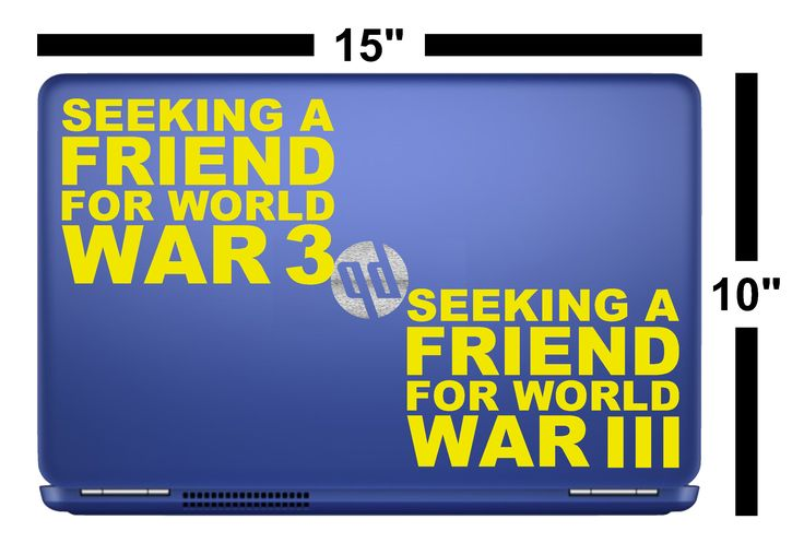 "Seeking A Friend For World War III 4"" x 6"" Die Cut Vinyl Decal Window Wall Car Bumper Sticker by TheGratefulDawg on Etsy"