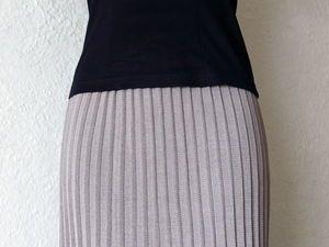 Мастер-класс: юбка плиссе на вязальной машине 5-го класса | Ярмарка Мастеров - ручная работа, handmade