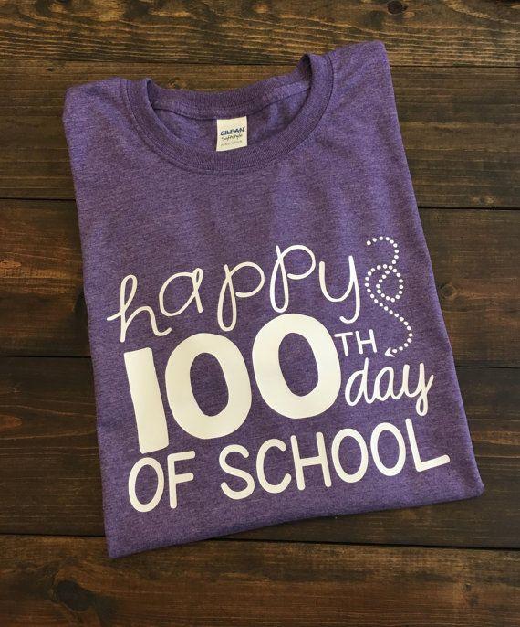 Happy 100th Day of School Teacher T-shirt 100th day by MissyLuLus