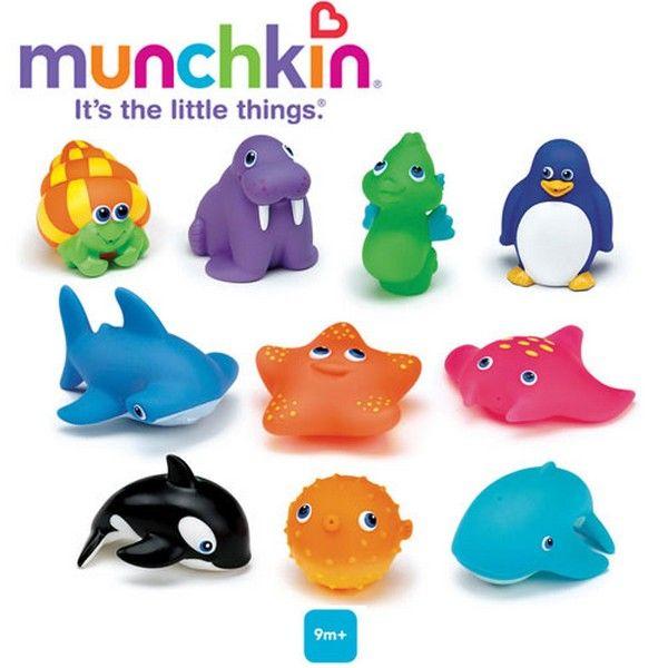 Set 10 jucarioare de baie Munchkin - jucarii-online.eu