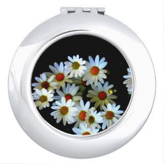 Blossoming darkness Round Compact Mirror