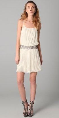 Parker Pleated Star Beaded Dress