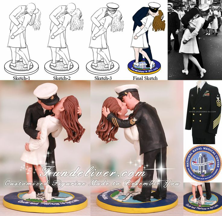 sailor and nurse wedding cake topper i want this but hair and now i got 19619
