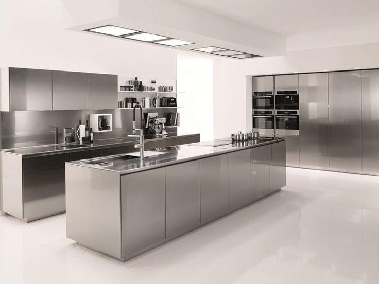 cocina de acero inoxidable filofree steel by euromobil diseo roberto gobbo