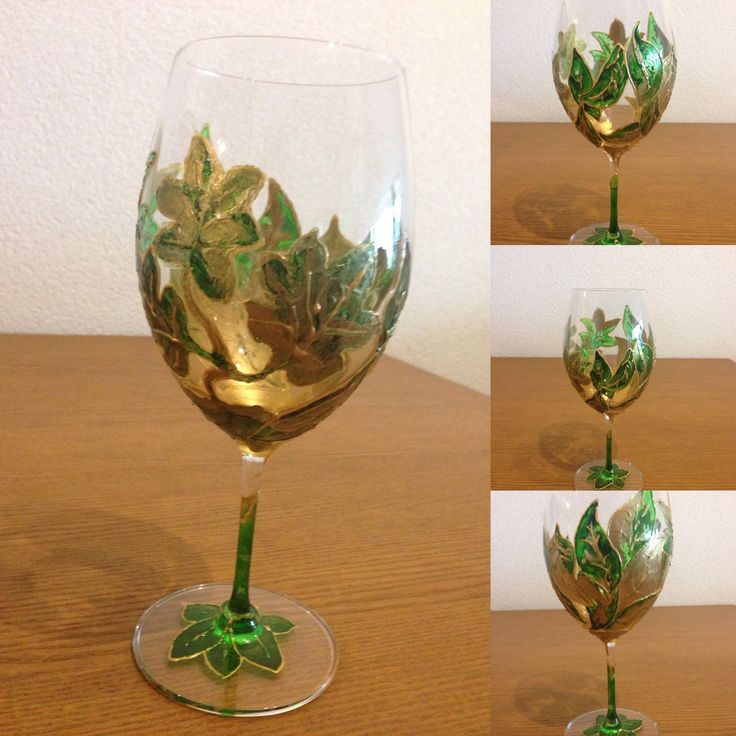 Hand Painted on XL Wine glass