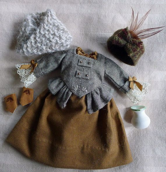 A Wee Scottish Outlander Outfit in Browns for Hitty by Islecroft