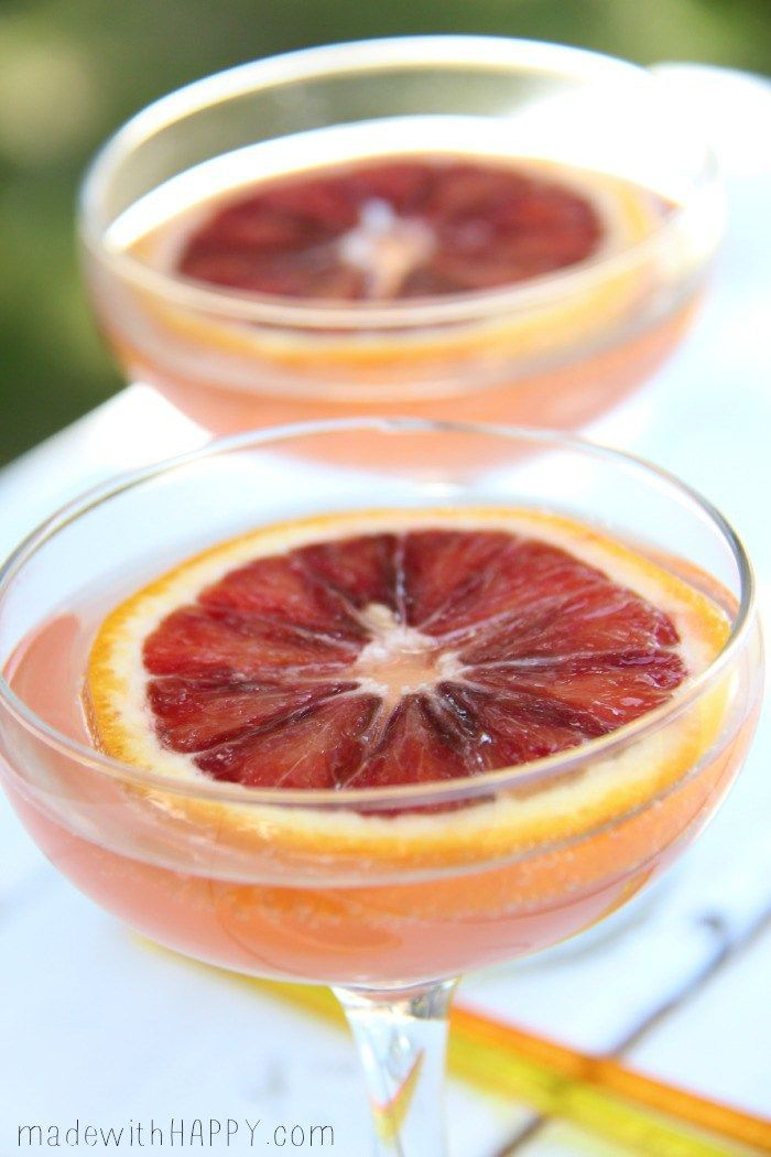 Blood Orange Champagne Cock5ail | Champagne Cocktail Flavors | Blood Orange Cocktails | Brunch Cocktail Ideas