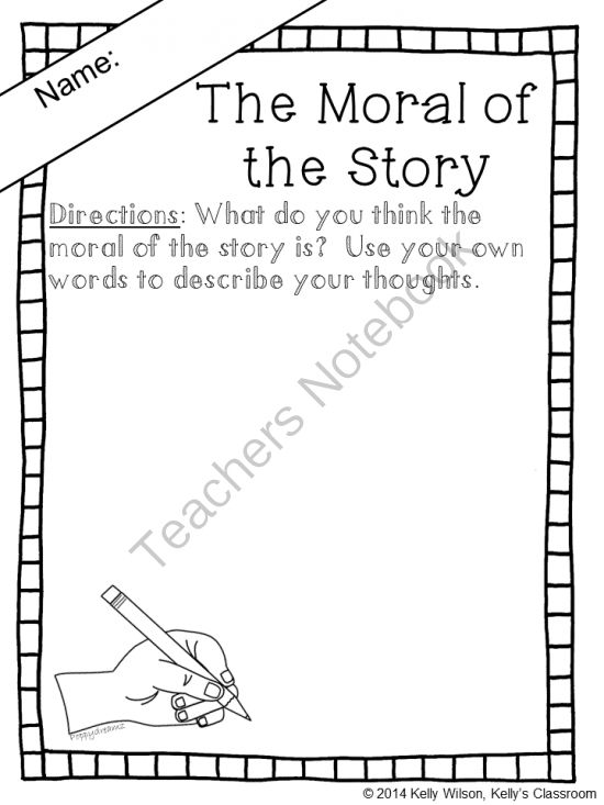 FREE Worksheet What is the Moral of the Story writing response – Fables Worksheets