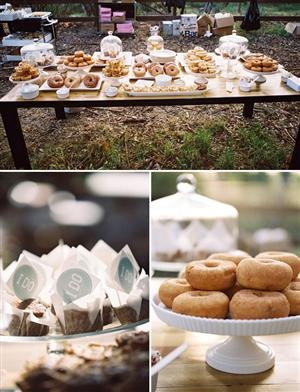 Sunrise Wedding Donut And Bagel Bar Find This Pin More On Breakfast Reception Ideas