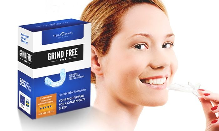 Groupon Goods Global GmbH: One or Three Stella White Grind Free Dental Night Guards from £2.99 (Up to 94% Off)