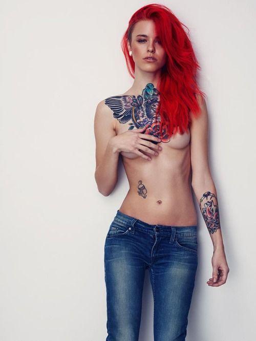 Tumblr   Fashion...♥   Pinterest   Red hair, Chest piece ...