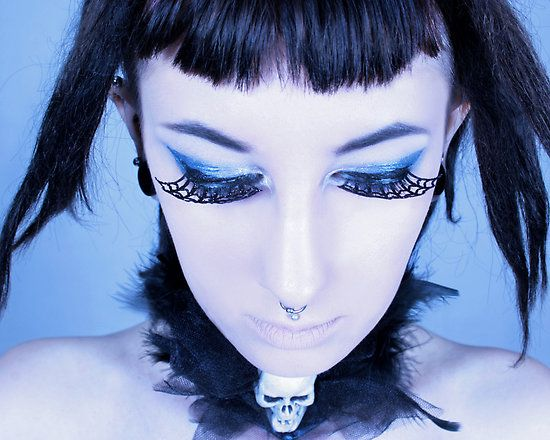 Webbed Eyes~Goth Girls, Girls Generation, Porcelainpoet, People, Web Eye, Body Artworks