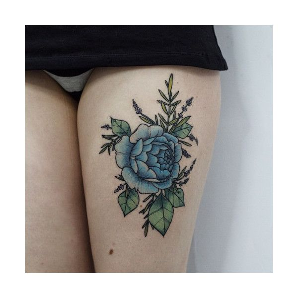 blue ink tattoo Tumblr ❤ liked on Polyvore featuring accessories, body art and tattoos