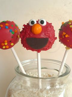 ... Elmo cake pops - step by step!  projects  Pinterest  World, Cake