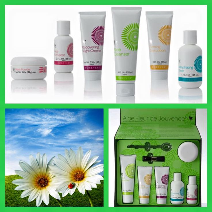 The Aloe Fleur de Jouvence.  The perfect skincare kit made with Aloe  Not to mention it has out very popular mask powder included which has been nicknamed the Botox Mask!  For our full range of skin care products please visit my online shop. www.foreveraloeaberdeen.myforever.biz/store