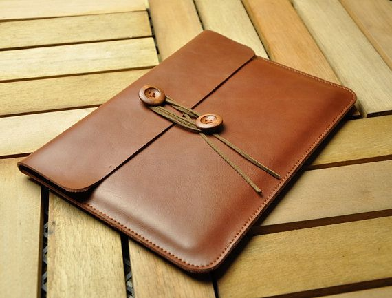 "Brown Leather 13"" Macbook Sleeve, Macbook Case, Macbook 13 Pro Retina, 13 Macbook Air, Macbook Cover-B10-MB-Z"