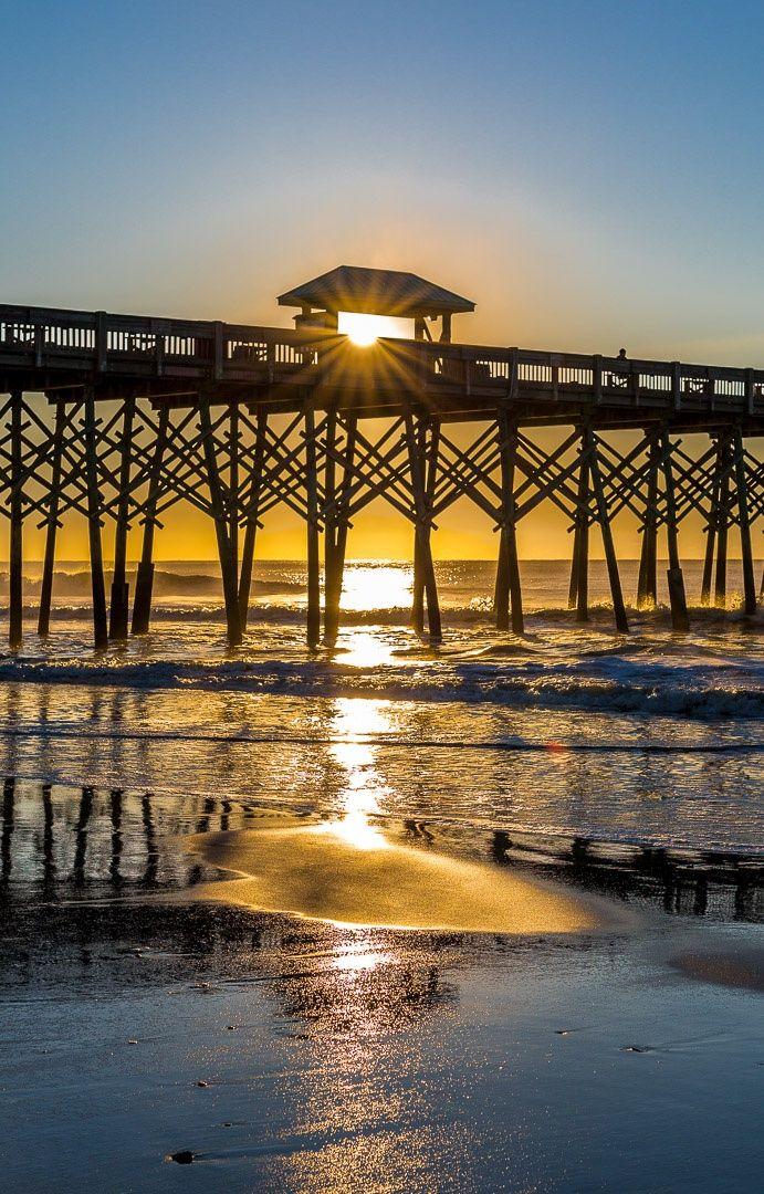 Sunrise at Folly Beach, South Carolina, USA