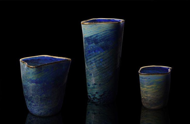 Cada vaso é único, assinado e numerado, feito à mão, pelo método do vidro soprado em Murano, Itália.  #danielabusarello #brazilsa2015 #milan #milao #milano #designweek