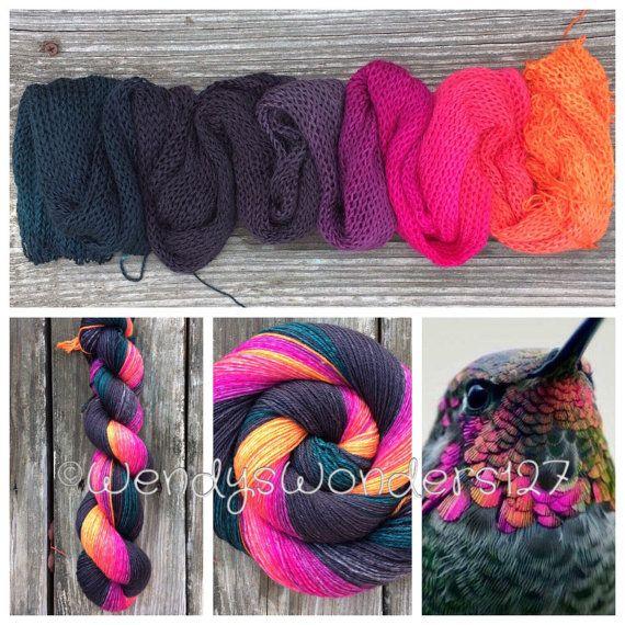 Hand Dyed Yarn Gradient Yarn Fingering/Sock by WendysWonders127