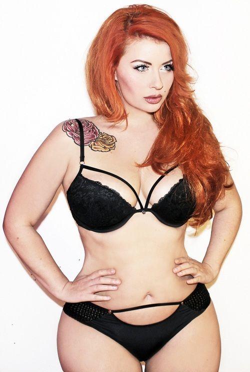 lingerie mature Redhead chubby