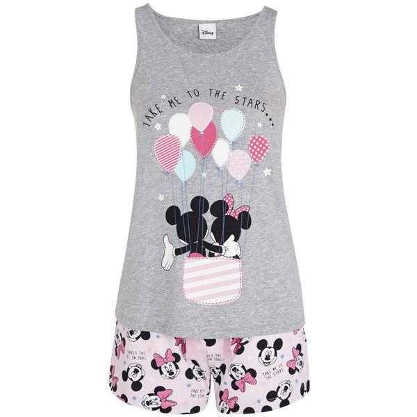 Disney Mickey Mouse Take Me To the Stars Shorts Pyjamas (5.660 CRC) ❤ liked on Polyvore featuring intimates, pijamas and disney