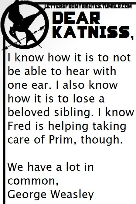 HP and Hunger Games...Dang now i ship this, too.