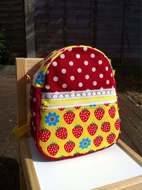 Kids Backpack  Strawberry by KOCOKIDS on Etsy, $45.00