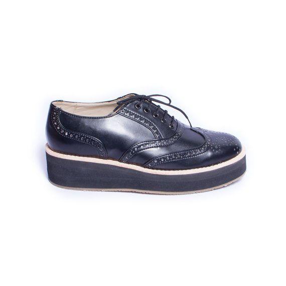 oxford nero rampicanti scarpe vegan o pelle normale di goodbyefolk