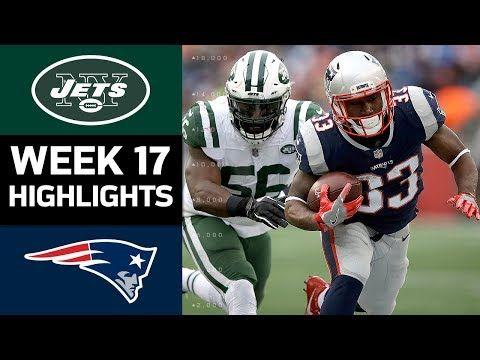 2017 Nfl Week 17 Game Highlights Jets Vs Patriots Jets Vs Patriots Football Helmets Patriots