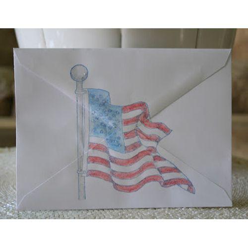Serendipity Stamps Flag - Envelope Art