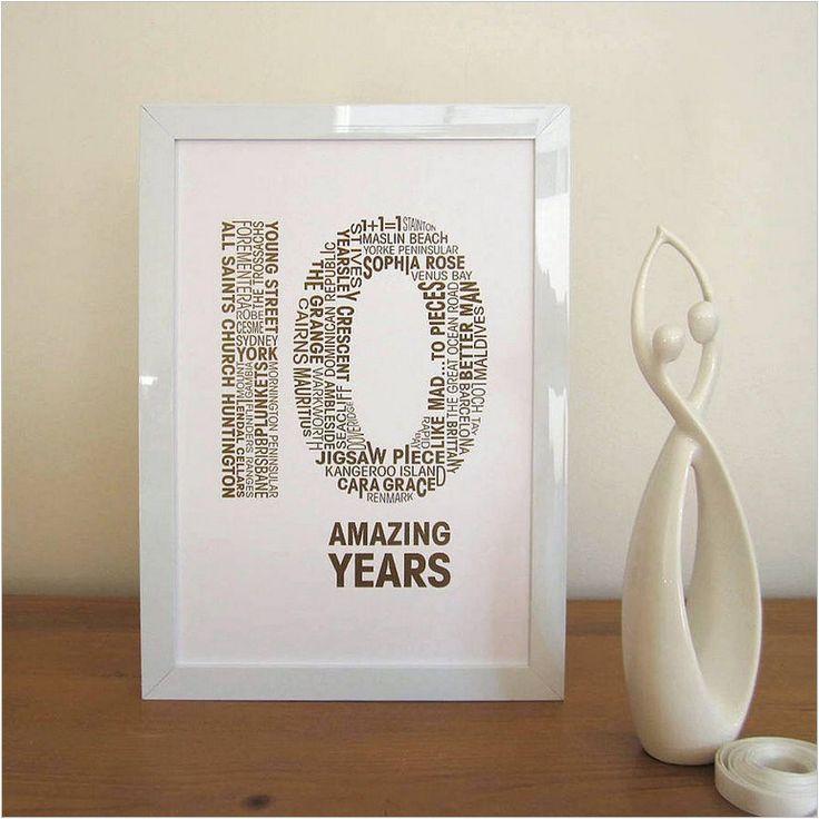 25 Unique 10th Wedding Anniversary Gift Ideas On Pinterest