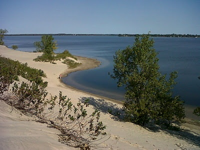The 'hilly' side of the Sandbanks Provincial Park, out by Picton, Ontario, Canada... both sides of the beach are incredible pretty... this side is fun for the kids to run up the sand dunes, then race down, right into the water!  Is endless fun! lol!    http://buildyourownhousebodylife.blogspot.ca/2012/01/beaches-in-belleville-thats-right.html