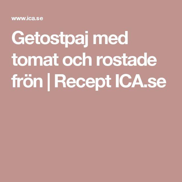 Getostpaj med tomat och rostade frön | Recept ICA.se