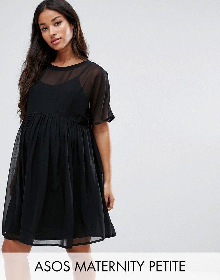 Asos PETITE Woven Smock Dress