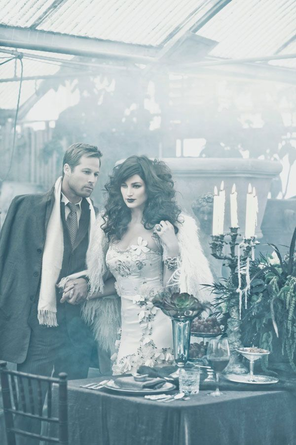 Gothic Wedding Bride and Groom