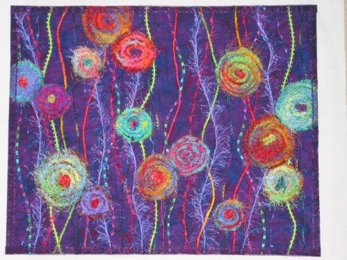 felted flower art quilts - Google Search