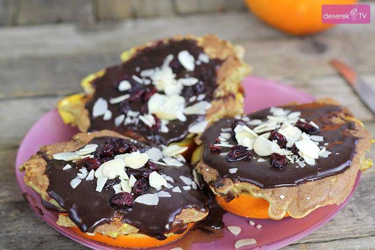 Dietetyczne Owsiane Placuszki w czekoladzie z pomarańczą