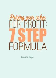Pricing your cakes, wedding cakes, cupcakes and more for business can be a big challenge - not anymore! Follow this 7 step formula to price for profit