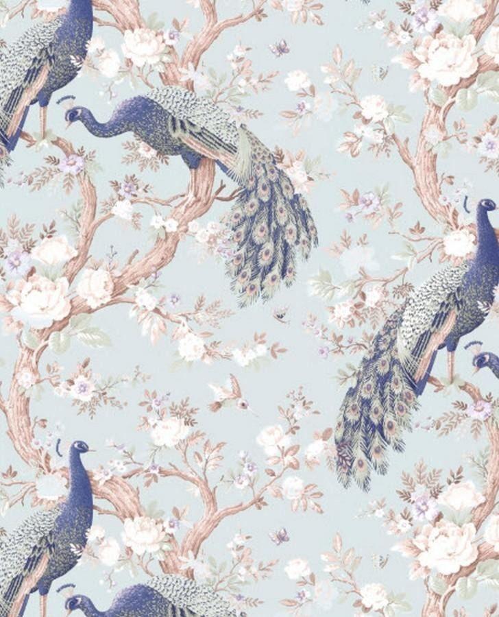 Belvedere Duck Egg Wallpaper Peacock Wallpaper Wallpaper Duck Egg Blue Duck egg blue kitchen wallpaper