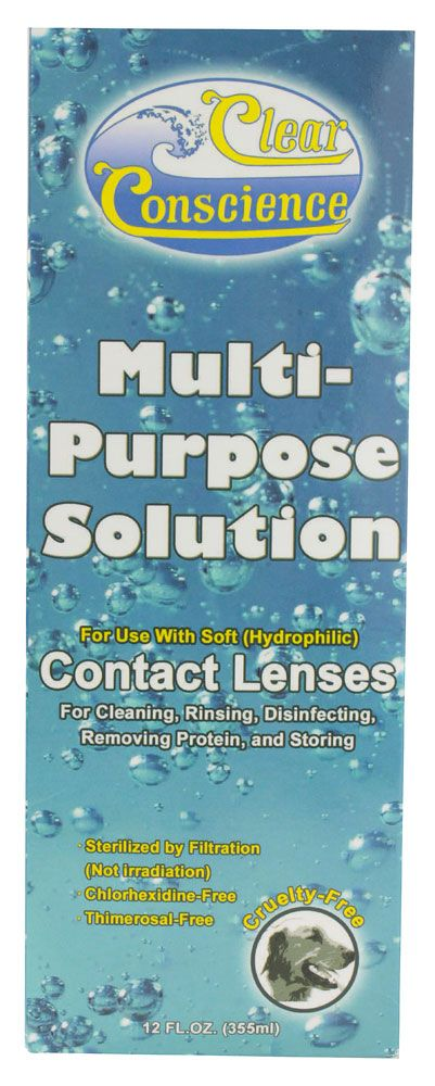 Clear Conscience Multi Purpose Solution For Soft Contact Lenses