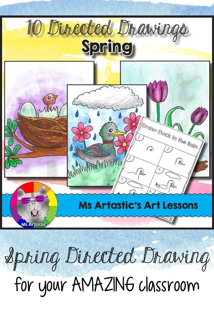 Spring Directed Drawing for your Classroom!Get set for Spring with 10 Directed Drawing Lessons for your students. This comes with a coloring title page, 10 step-by-step drawing pages, and a blank boarder page for students to draw on. 3 finished examples are included in this product to use to show your students expectations for coloring their drawings. This product also includes a 2 page lesson plan to help you run a successful art lesson and to save you time on planning!