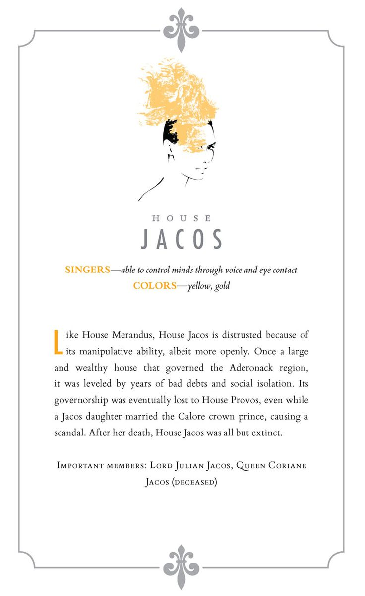 Red Queen Silver House - Jacos - What Your Favorite Red Queen Silver House Says About You