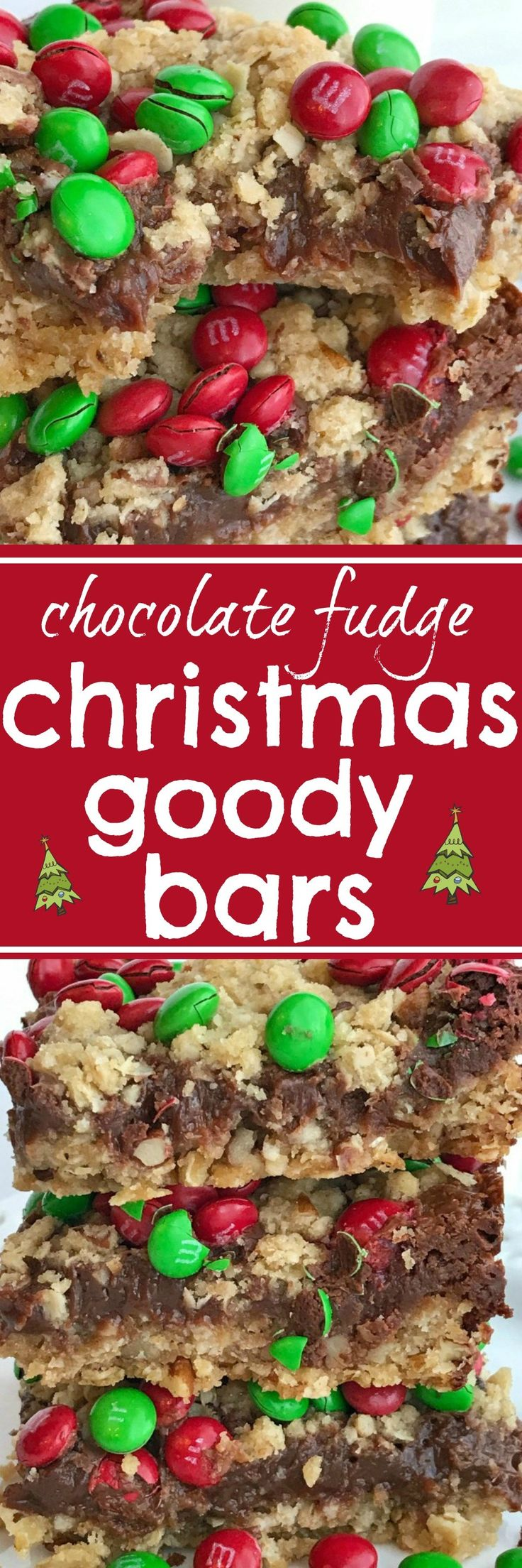 Chocolate Fudge Christmas Goody Bars  | Posted By: DebbieNet.com
