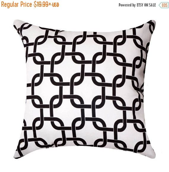 Gotcha White & Black Throw Pillow Free by LandofPillowsDotCom