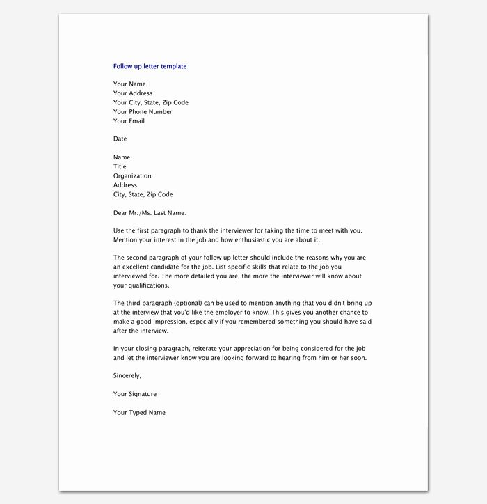 Follow Up Letter Template Lovely Follow Up Letter Template 10 Formats Samples Examples Letter Template Lettering Simple Cover Letter Template